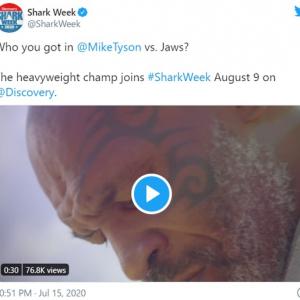 ディスカバリーチャンネルの「Shark Week」にマイク・タイソンが出演します 「タイソンならサメもKOでしょ」「どっちも人に噛みつくからいい勝負になりそう」