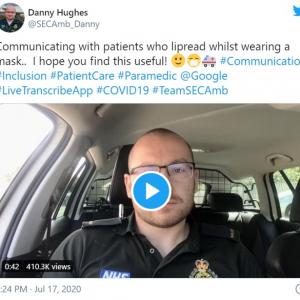 イギリスの救急救命士が提案する、マスク装着時に耳が不自由な患者とコミュニケーションをとる方法 「新型コロナウイルスと共生しなくてはならない時代の必須アプリだ」