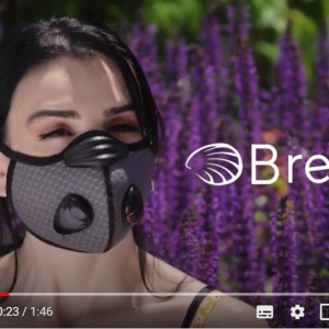 夏でも涼しい高機能マスク「Breeze」 Kickstarterでプロジェクトを展開中