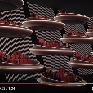 『スター・ウォーズ』の銀河元老院みたいな映画館「Ōma Cinema」 来年フランスにオープン予定