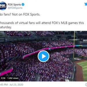 FOX SportsがMLBの試合中継でバーチャルファンを導入 「野球ゲームの中継じゃないんだから」「最悪のアイデアだな」