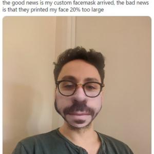 オリジナルのプリントマスクを注文したら大失敗した事例集 「劇的すぎる失敗」「顔が20%も拡大されてプリントされた」