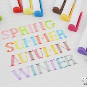 100円ショップで買える優秀カラーペン『シーズンカラーマーカー』は季節をテーマにした色が可愛すぎる!