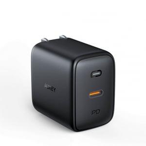 AUKEYのGaN採用で小型・高出力のPD対応USB急速充電器Omniaシリーズに61WでUSB-Cポート1基の最小・最軽量モデルが発売