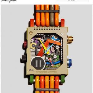 電子廃棄物をリサイクルしたとは思えない腕時計「Garbage Watch」