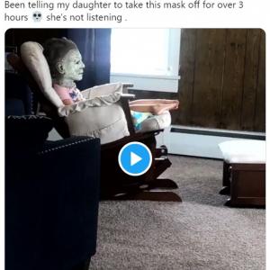 「マスクを取りなさい」と言い続けても聞く気配のない娘さん 「この子最高!」「否が応でも社会的距離を取らざるを得ない」