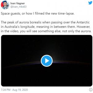 動画開始から11秒後に現れる謎の物体は何だ? 「スペースXのスターリンク衛星じゃないかな」「U.S.S.エンタープライズだろ」