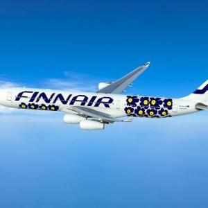 マリメッコが空を飛ぶ! 機体、テーブルウェアまるごと北欧スタイルの飛行機が登場