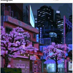 ピクセルアートで再現された日本の街並み 「アートと音楽の融合が素晴らしい」「どれもこれも引き込まれる作品」