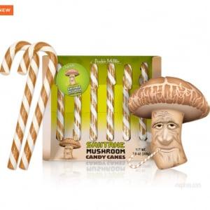 シイタケ味のキャンディとかアリなの? アメリカの通販サイトで「SHIITAKE MUSHROOM CANDY CANES」が新発売