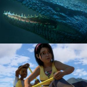 『ジュラシック・ワールド/サバイバル・キャンプ』海の王者・モササウルスが少年少女を襲う! 本編映像独占解禁