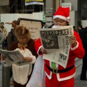 またあのサンタか! クリスマス中止のお知らせ in 秋葉原