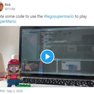 レゴマリオのコントローラーでスーパーマリオをプレイ 「レゴマリオってこのためにあったんだね」「創造性の極限」