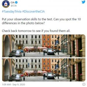 CIAが間違い探しでエージェント探し!? 「求人ツイート」「全部見つけたけどスパイになれるかな」