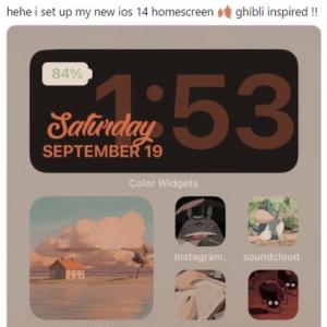 ホーム画面をカスタマイズできるようになったiPhone 思い思いにアレンジする人が続出