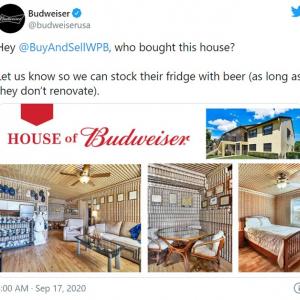 """壁一面が空き缶だらけの一軒家 フロリダに実在する""""バドワイザーの家""""が売りに出される"""