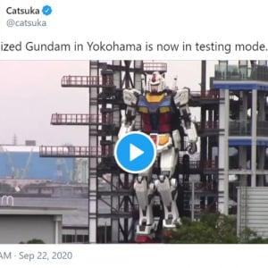 実物大の動くガンダムに世界中のファンが釘付け 「『パシフィック・リム』が現実になった」「東京オリンピックの開会式に登場するとか」