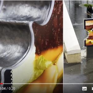 """マクドナルドのユニークな屋外広告 """"食べかけ""""でもビッグマックやマックフライポテトだと一目瞭然"""