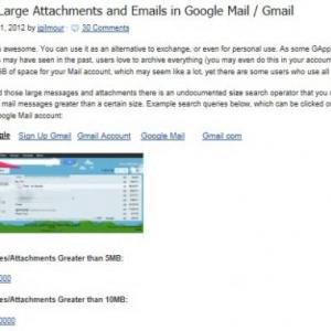 Gmail容量不足の救世主! 「size:10MB」検索
