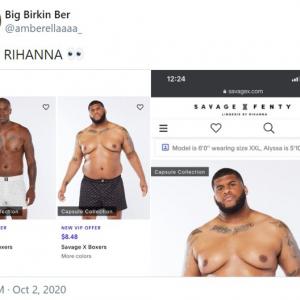 リアーナが手掛ける下着ブランド「Savage X Fenty」の男性モデルが超話題 「俺みたいな体型のモデルなんて初めて見た」「他のブランドがいかに尊大で差別的かってことよ」