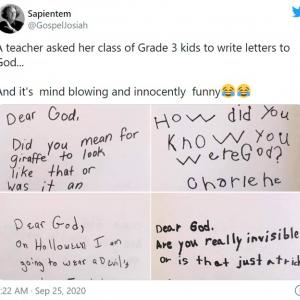小学校3年生による神様への質問が面白すぎる 「忖度なし」「ほとんど全部大人が答えられない質問」