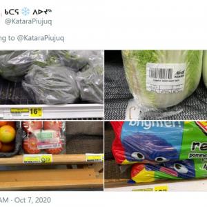 カナダ北極圏の野菜と果物の値段に凍り付く 「すいかの値段はもはや犯罪」「カナダ政府は何してるんだ」