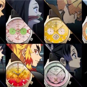 煉獄モデルも!モダンで機能的な『鬼滅の刃』×TiCTACコラボ腕時計 「滅」文字入り時計拭き付属