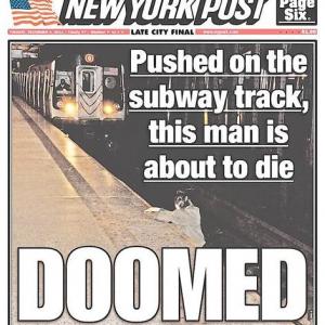 ニューヨークの地下鉄に韓国人が突き落とされひかれる直前の写真が掲載 「なぜ助けない」と物議を醸すが真実は……