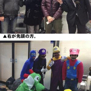 WiiUの行列にマリオご一行が参列! 日本の行列も大盛り上がり