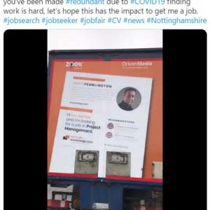 100社以上に応募しても仕事をゲットできなかったイギリス人男性 トラックに履歴書を広告として掲載したら48時間で雇用契約まで辿り着く