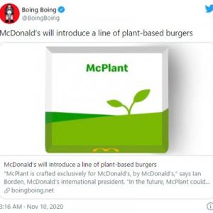 マクドナルドが代替肉使用メニュー「McPlant(マックプラント)」を発表 そのネーミングにネット上で異議が噴出