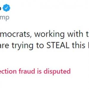 トランプ大統領のツイートでおなじみの警告文が海外で流行に