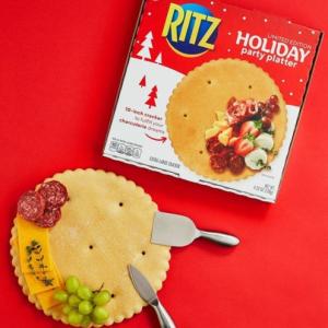 ピザ生地みたいな直径25センチの「RITZ Holiday Party Platter」 リッツパーティー用のアメリカ限定キャンペーン賞品です