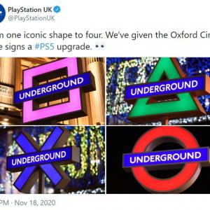 ロンドン地下鉄をジャックしたPlayStation 5のプロモーション 「イケてる広告だね」「マイクロソフト店舗の前でこれ」