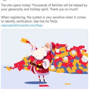 誰でもサンタクロースになって子どもたちにプレゼントを贈ることができる米郵便公社の「オペレーション・サンタ(USPS Operation Santa)」