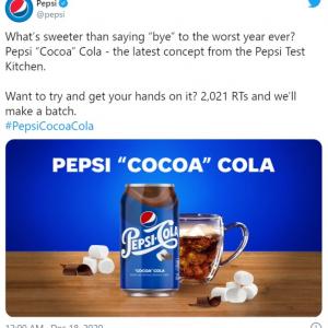 ペプシがココア味のペプシコーラを発表 「絶対不味そうだけど試してみたい気持ちもあるな」「2020年をこれ以上ひどい年にしないで」