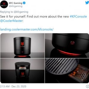 ケンタッキーフライドチキンがゲーム機「KFConsole」を発表 「エアフライヤーにしか見えない」「『サイバーパンク2077』もまともに動きますか?」