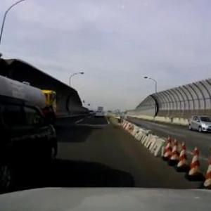 新湘南バイパスにて割り込みされた危険運転動画を晒す 投稿者の方が危険と批判される