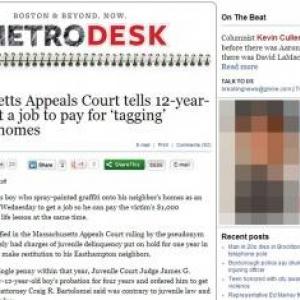 落書きの罪に問われた12歳が裁判所に働くよう命じられる