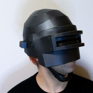 難易度高め? 仕上がり感はバッチリなポリゴン風マスクを作ってみた/メットはPUBGなんかでおなじみのアレ