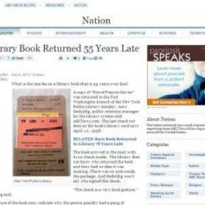 1958年に貸し出された本がようやく戻ってきた!