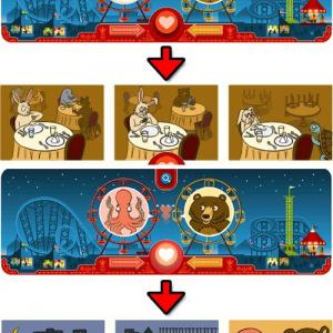 Googleのトップページがバレンタイン仕様の観覧車に! 様々な動物の組み合わせでオモシロイラストが見れる