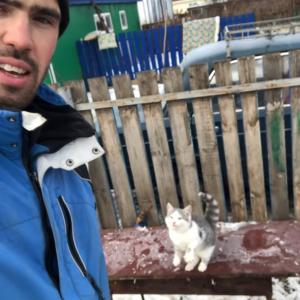 「こんなはずじゃなかったニャ…」雪が積もる足場からジャンプに挑み綺麗に失敗するニャンコ(笑)