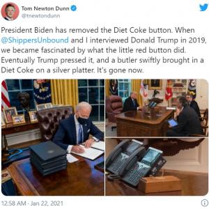 バイデン大統領になったことで大統領執務室のデスクから消えたものとは? 「ウソだとばっかり思ってたけどマジだったんだ」「椅子も変えたね」