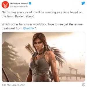 Netflixが「トゥームレイダー(Tomb Raider)」「スカル・アイランド(Skull Island)」のアニメシリーズを発表