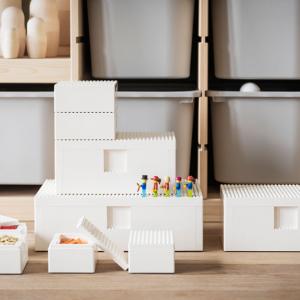 IKEAがレゴのディスプレイと収納に使える「BYGGLEK」コレクションを発売へ 4サイズのフタ付きボックスと201ピースセットをラインアップ