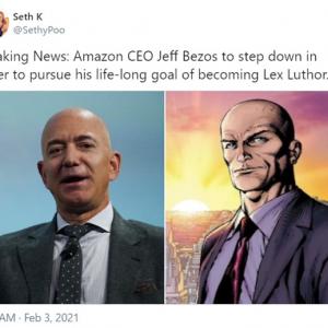 ジェフ・ベゾスがAmazonのCEOを退任 →ジョークツイートが盛り上がる 「Amazonは労働環境が酷いって話だし」「この経済状況で就活しようとしているのが信じられない」