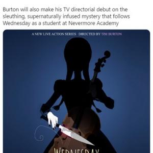 Netflixが『アダムス・ファミリー』の長女ウェンズデーを主人公にした実写ドラマを発表
