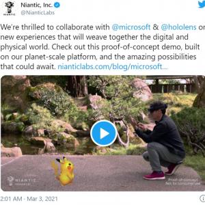 NianticがMicrosoftのMR対応デバイス「HoloLens 2」を使った『Pokémon GO』のコンセプトデモを公開 「これが未来形か」「広告もホログラムで表示されるんだろ」