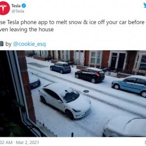 テスラのデフロスト機能の凄さがわかる動画 「シカゴの厳しい冬には欠かせない機能です」「テスラってマジで全天候型だな」